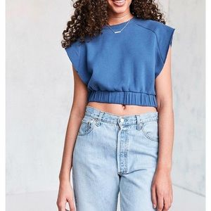 Silence+Noise Outlaw Cropped Sweatshirt Top